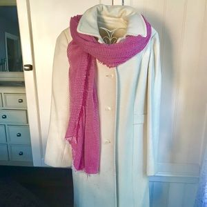 Winter white wool coat Ann Taylor Loft
